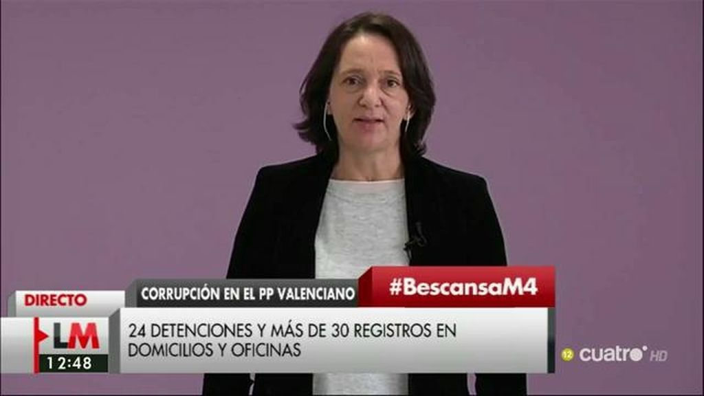 """Carolina Bescansa: """"El PP lleva mucho tiempo imposibilitado para gobernar este país por un motivo de corrupción"""""""