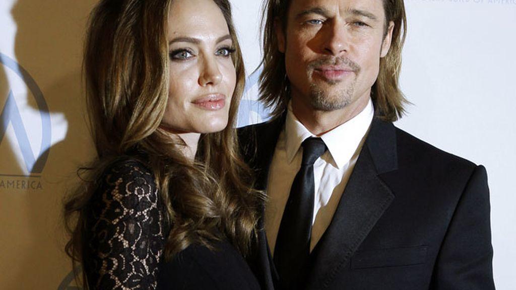 Angelina Jolie y Brad Pitt, en la entrega de premios de la Asociación de Productores en Beverly Hills