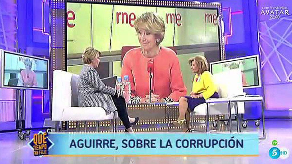 """Aguirre: """"La corrupción del PP no llega a la vigésima parte de la de los Pujol"""""""