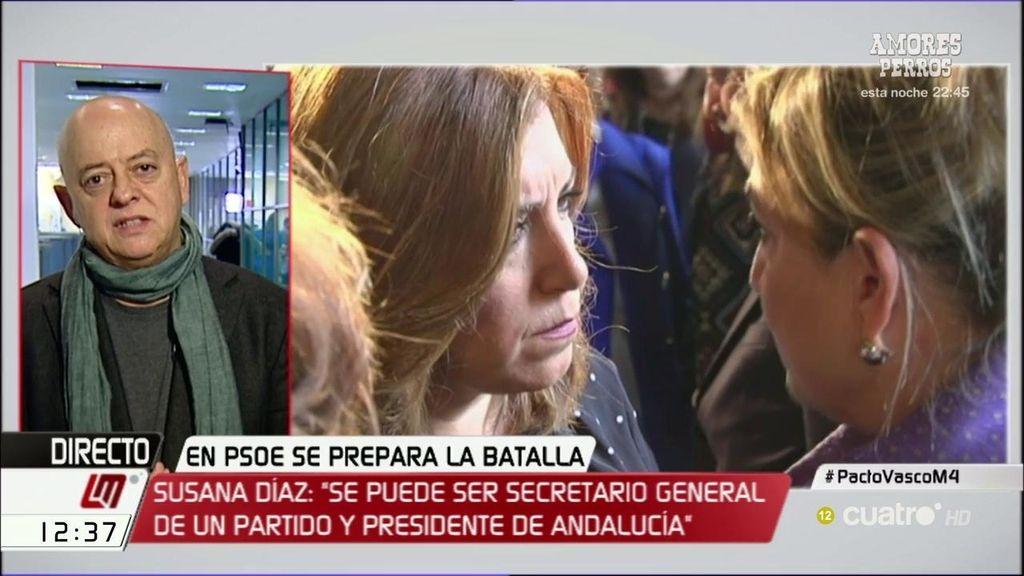 """Odón Elorza, de Susana Díaz: """"Creo que está dándole vueltas, deshojando la margarita"""""""