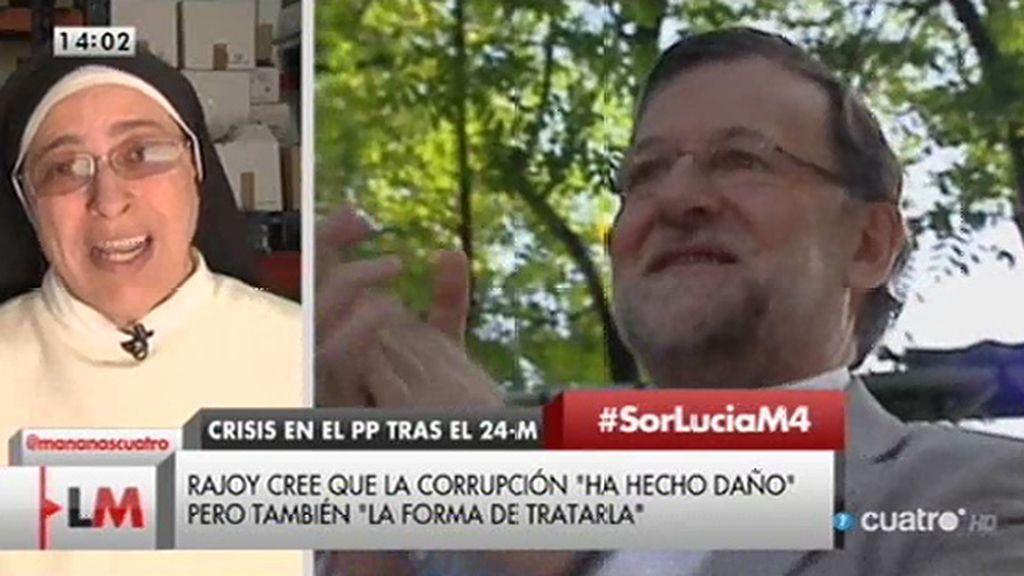 """Sor Lucía: """"Rajoy debería preguntarse qué es la incomunicación en la que vive"""""""