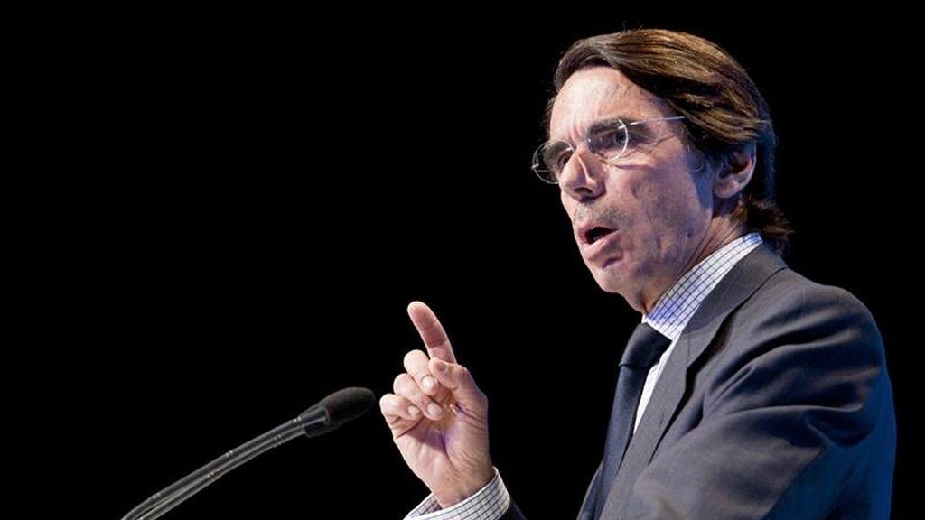 El presidente de honor del PP, José María Aznar. EFE/Archivo