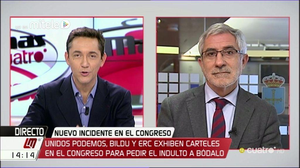 """Gaspar Llamazares: """"Es paradójico que el mismo Congreso que reprobó a Fernández Díaz ahora le quiera en sus comisiones"""""""