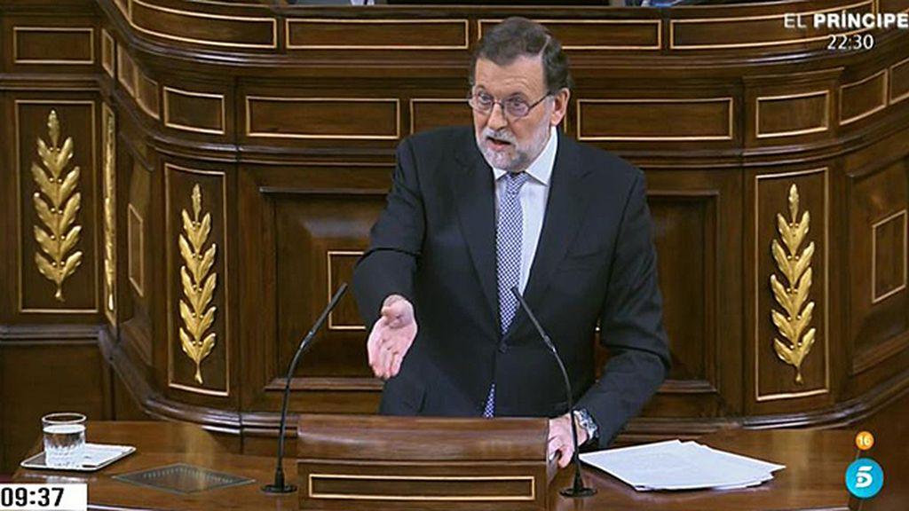"""Rajoy, a Sánchez: """"Póngase de acuerdo con Rivera en si son de izquierdas o de derechas"""""""
