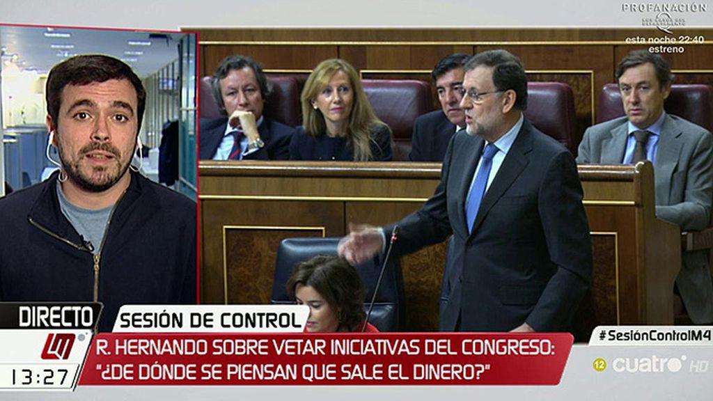 """Alberto Garzón: """"Creo que vamos a la legislatura de los vetos"""""""