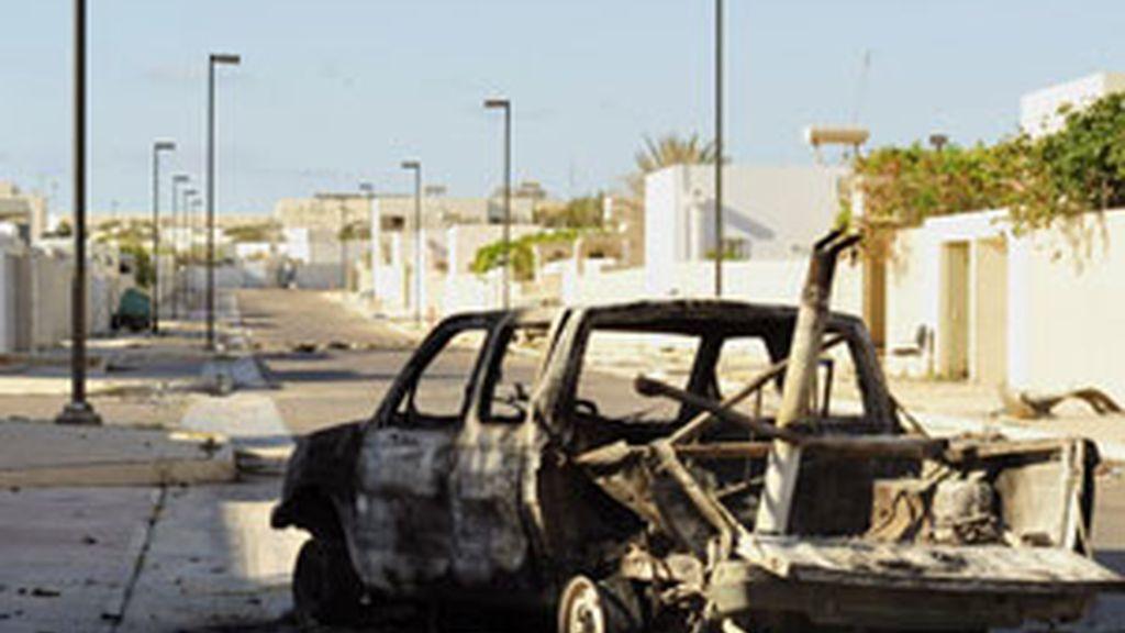 La ciudad de Brega ha sido testigo de diversos enfrentamientos entre rebeldes y tropas de Gadafi por el control de la ciudad FOTO: REUTERS