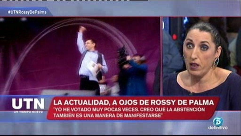 """Rossy de Palma: """"Creo que Podemos tiene derecho a equivocarse"""""""