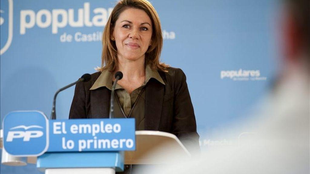 La secretaria general del PP y candidata del PP a la presidencia de Castilla-La Mancha, María Dolores de Cospedal. EFE/Archivo
