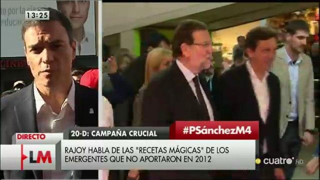 """Pedro Sánchez: """"Me comprometo a subir el salario mínimo a 1.000 euros en 8 años"""""""