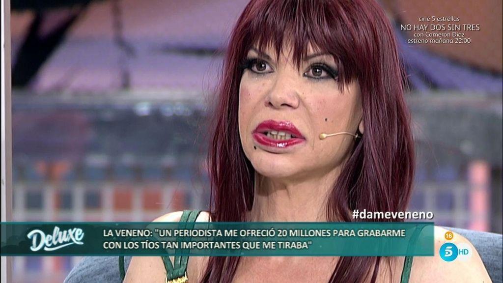 """La Veneno: """"Me daban 20 millones por grabar a los hombres con los que me acostaba"""""""