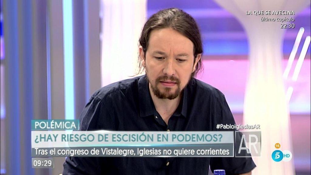 """Pablo Iglesias: """"Que se diga que en Podemos hay dos caras nos hace daño"""""""