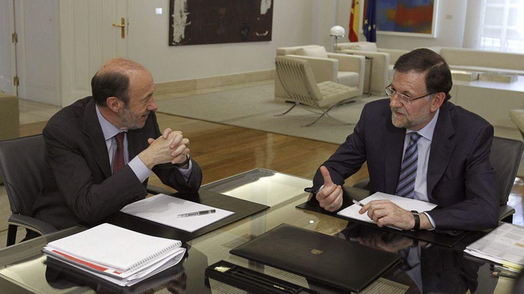 Reunión entre Rajoy y Rubalcaba en la Moncloa