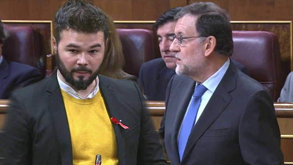 """Rufián vs. Rajoy: El """"populismo del condón"""""""