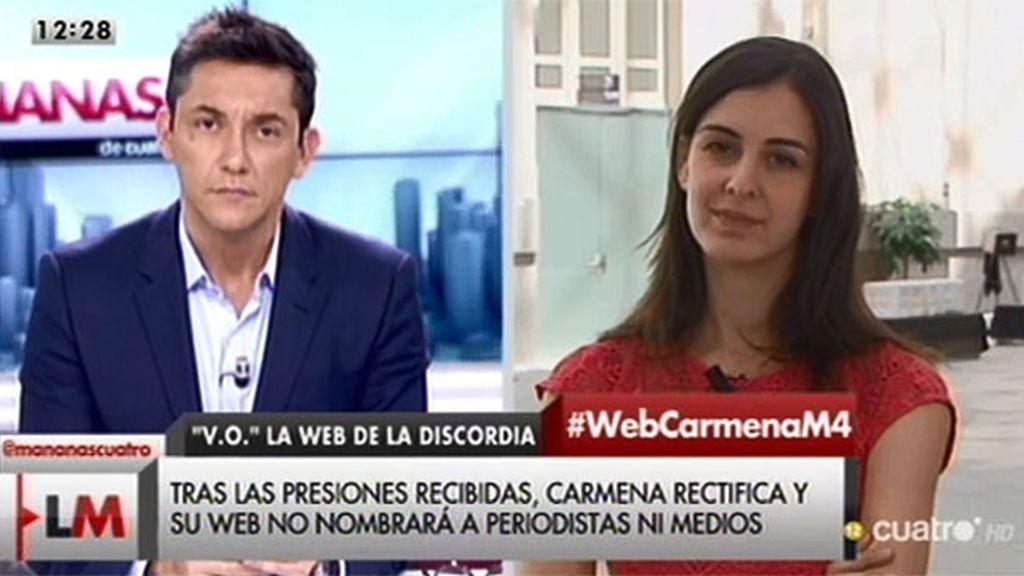 """Rita Maestre, sobre 'V.O.': """"No hay rectificación, hay una explicación en la web"""""""