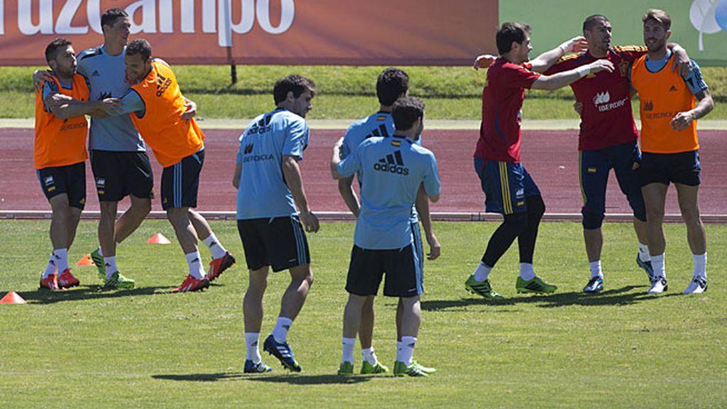 Los internacionales en el entrenamiento