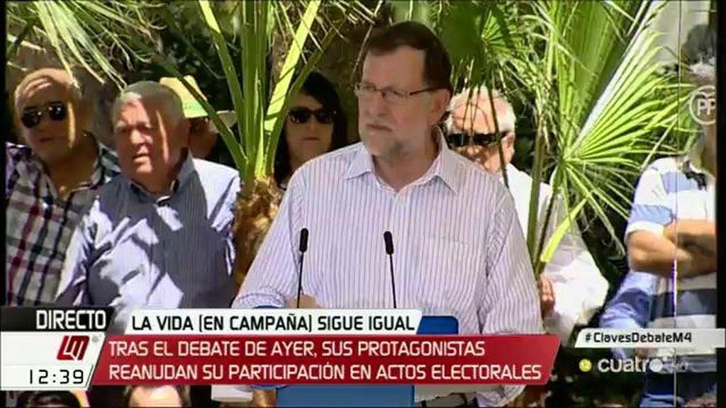 """Mariano Rajoy: """"Hay un proyecto en marcha, el nuestro, y delante sólo hay ruido"""""""