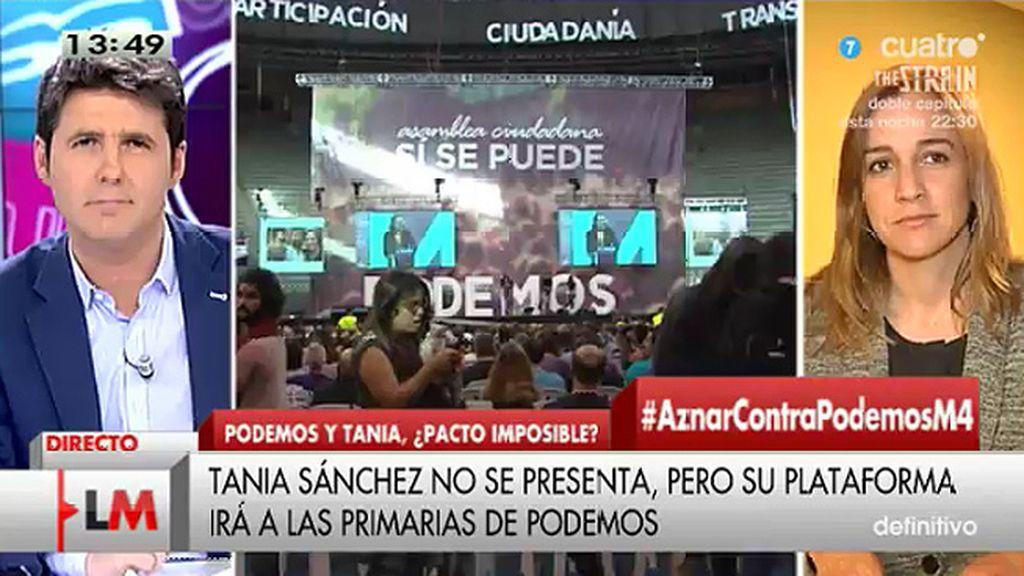 """T. Sánchez: """"El proyecto de Podemos no me parece suficiente para el cambio político"""""""