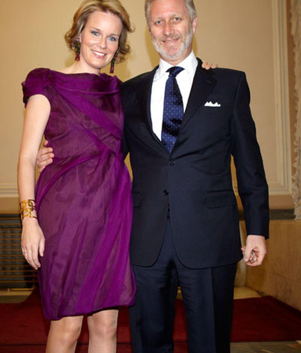 El Príncipe Felipe y la Princesa Matilde de Bélgica