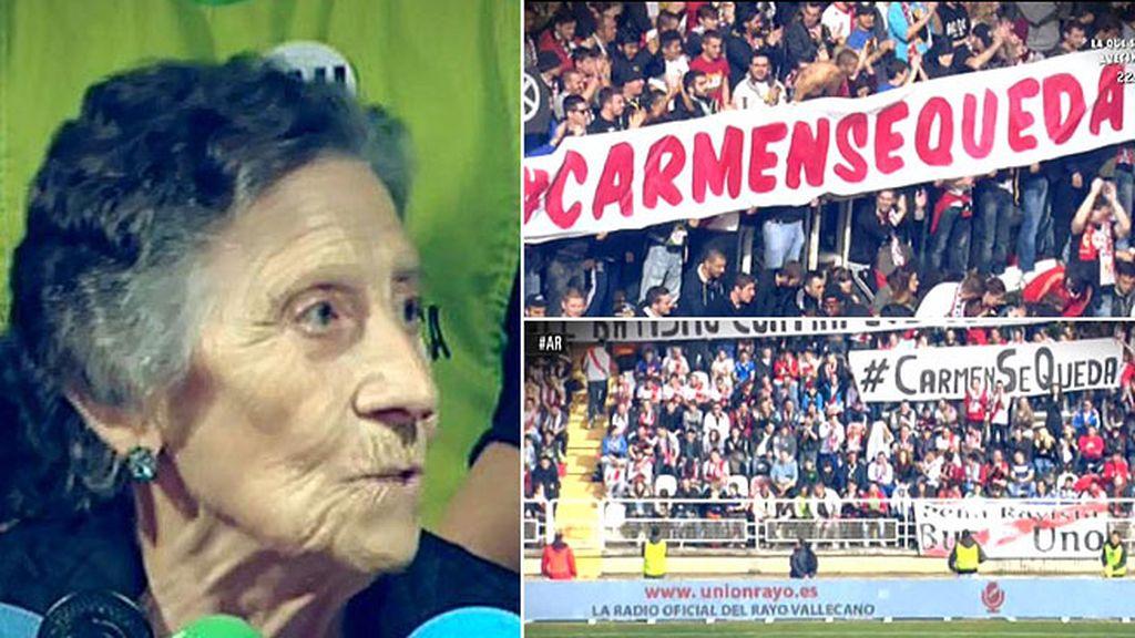 El Rayo Vallecano pagará el alquiler a Carmen, la anciana de 85 años desahuciada