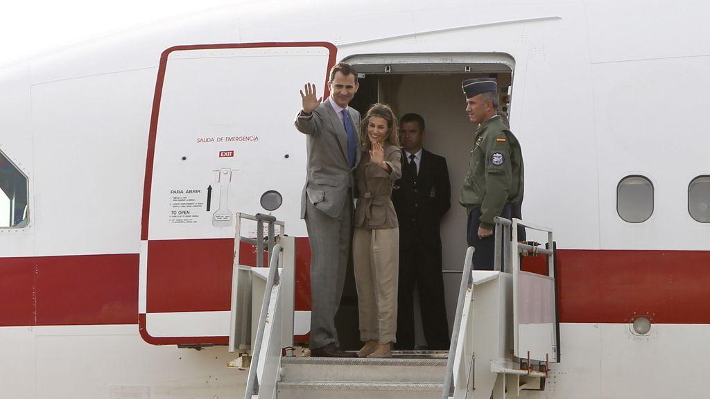 Los Príncipes de Asturias concluyen su visita a Chile