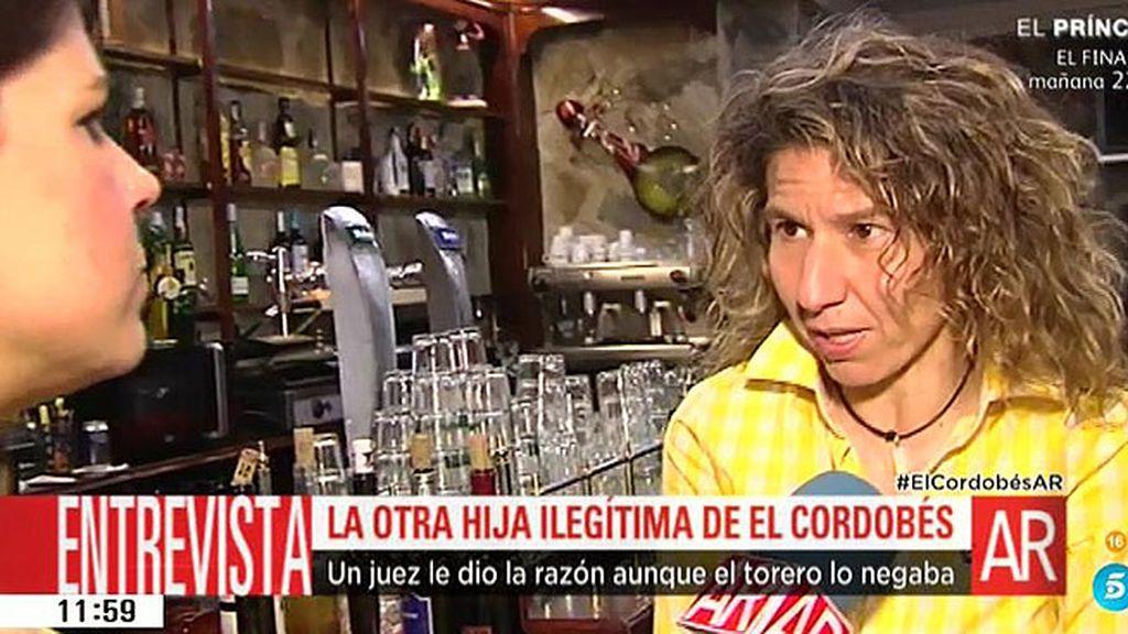 'AR' habla con la única hija extramatrimonial reconocida por 'El Cordobés'