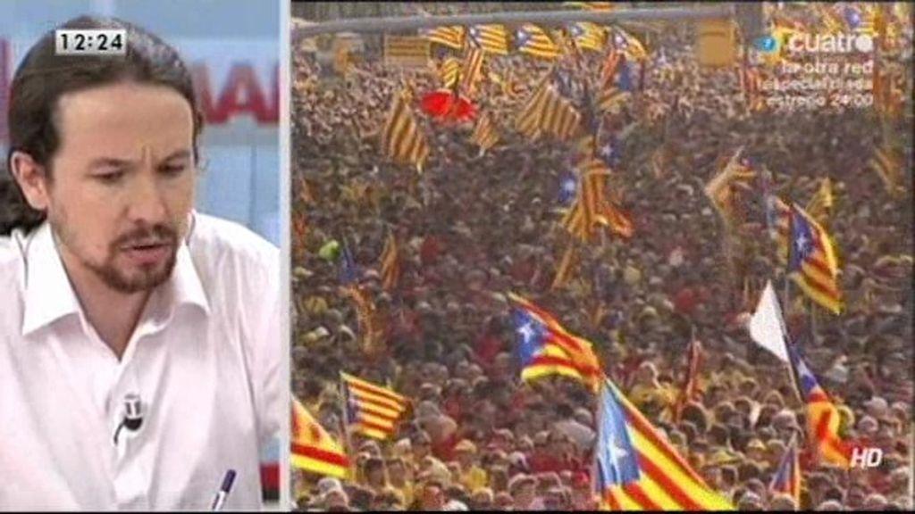 """Pablo Iglesias: """"Entiendo que Cataluña debería ser lo que los catalanes quieran"""""""