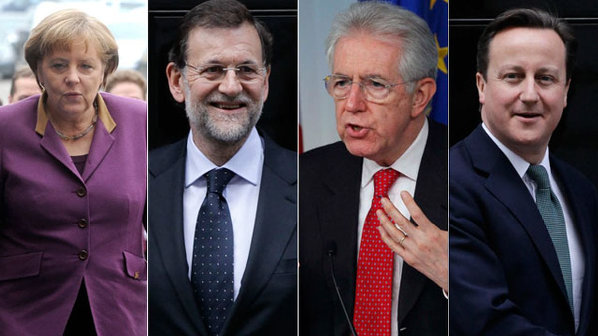 Merkel, Rajoy, Monti y Cameron pactan no reunirse con el candidato socialista francés, François Hollande