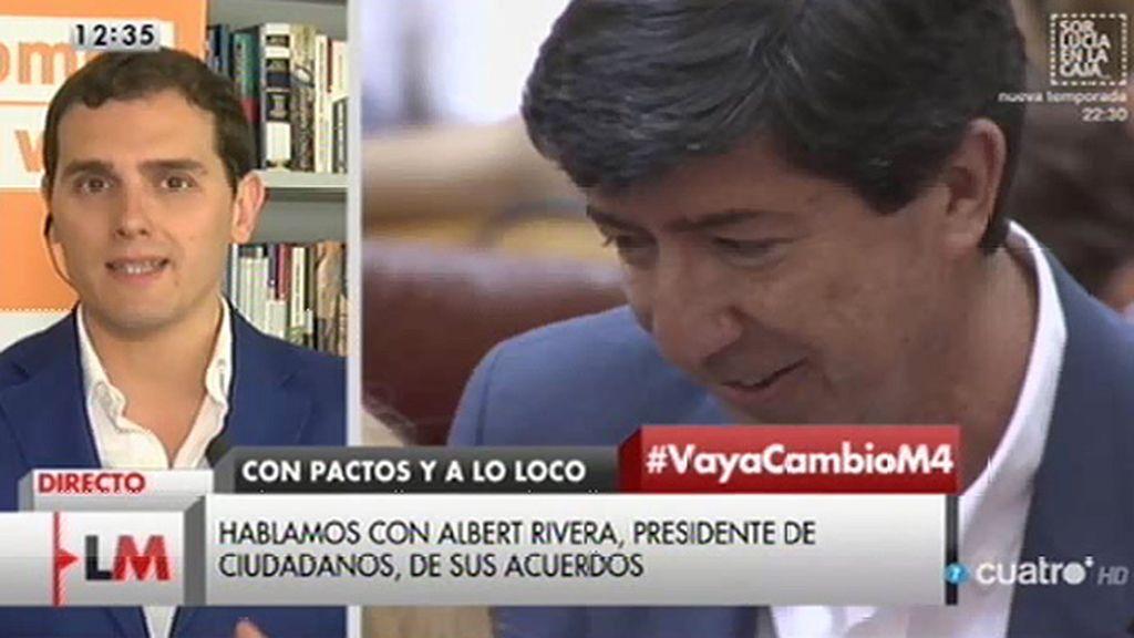 """Albert Rivera: """"No hay regeneración si se bloquean las instituciones y no funcionan"""""""