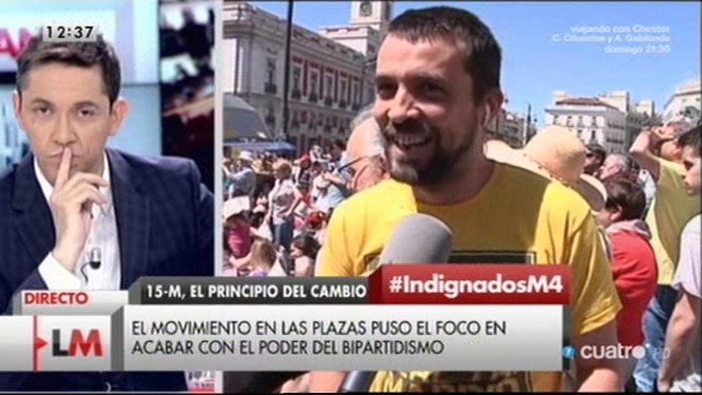 """Nacho, de Democracia Real: """"La democracia es hablar de personas y derechos"""""""