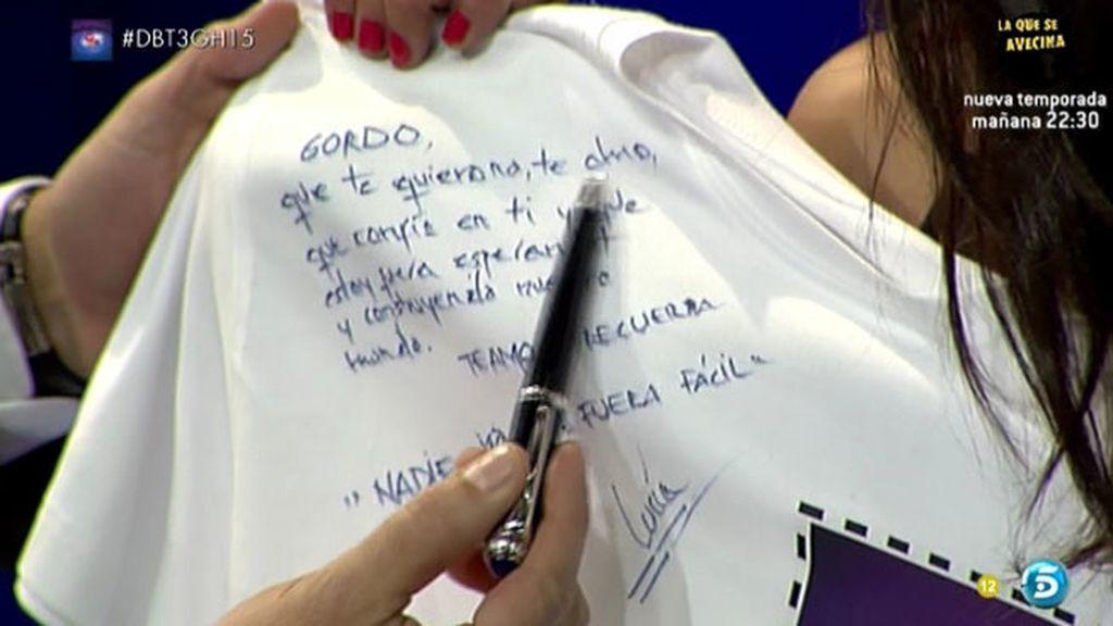 """La dedicatoria de Omar a Lucía, su lema: """"Nadie dijo que fuera fácil"""""""
