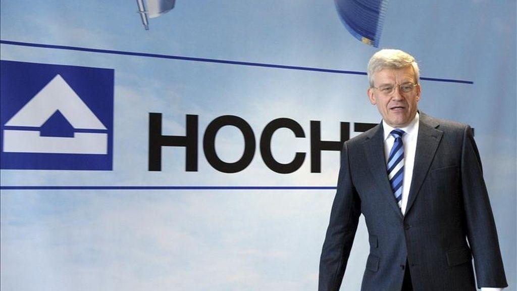 Foto de archivo del presidente ejecutivo de Hochtief, Herbert Lütkestratkötter, durante la presentación del balance de la compañía en Düsseldorf (Alemania). EFE/Archivo