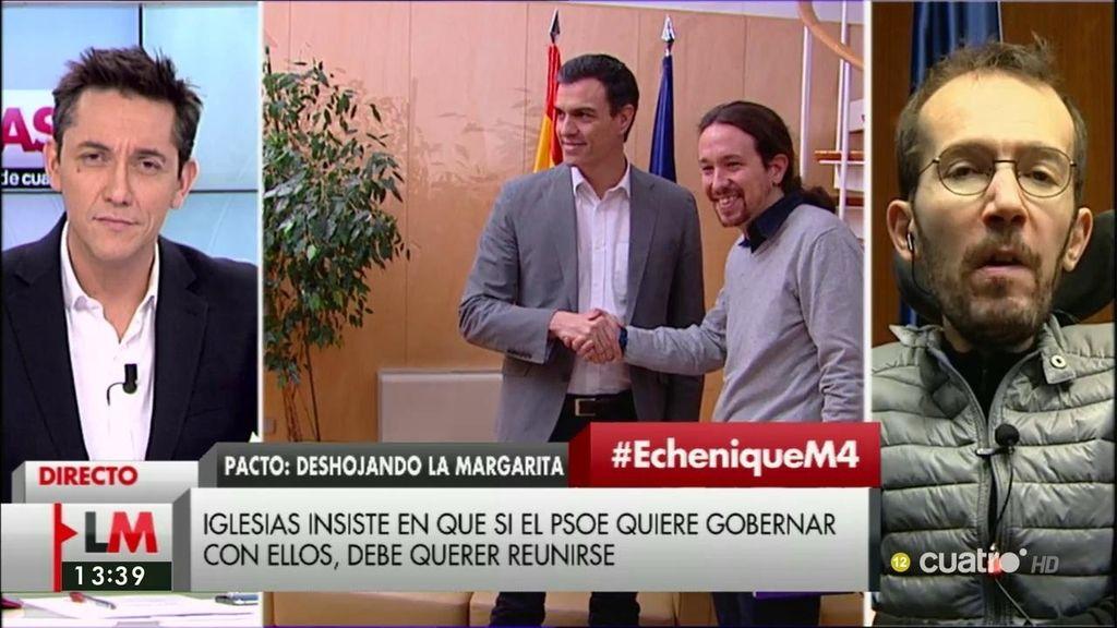 La entrevista a Echenique, a la carta