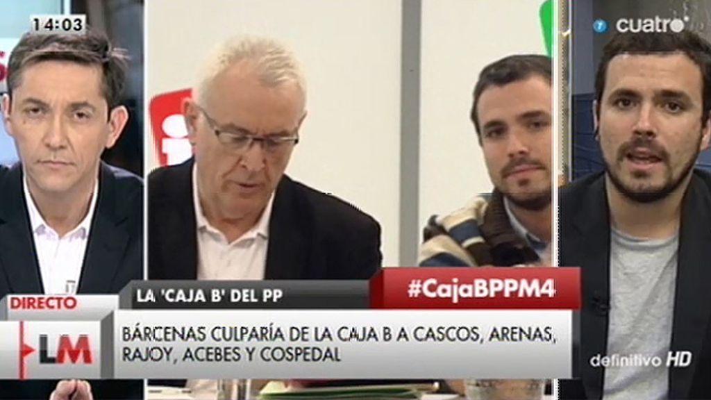 """A. Garzón, de IU: """"En el debate hay disensiones y se trata de encontrar un punto de encuentro"""""""