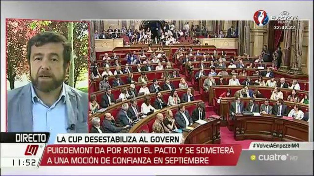 """Miguel Gutiérrez, sobre Cataluña: """"Esto es lo que pasa cuando muchos partidos se unen pero detrás no hay ningún proyecto"""""""