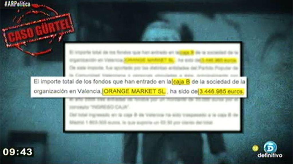 El PPV aportó 3,4 millones a la caja B de la filial de Correa en Valencia