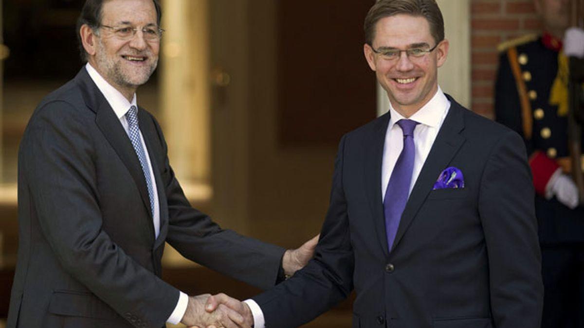 Rajoy recibe al primer ministro de Finlandia