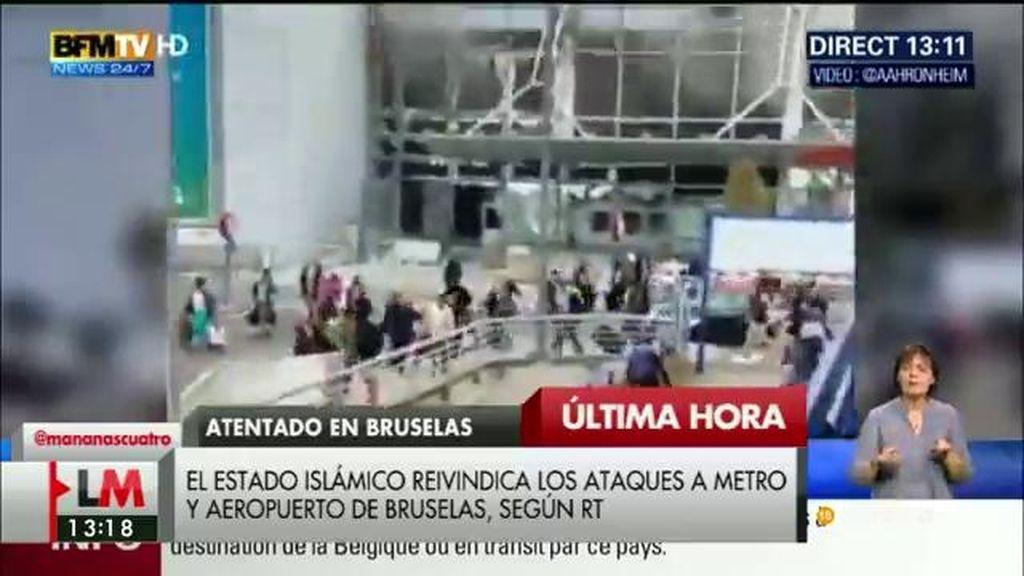 El Estado Islámico reivindica los ataques al metro y el aeropuerto de Bruselas