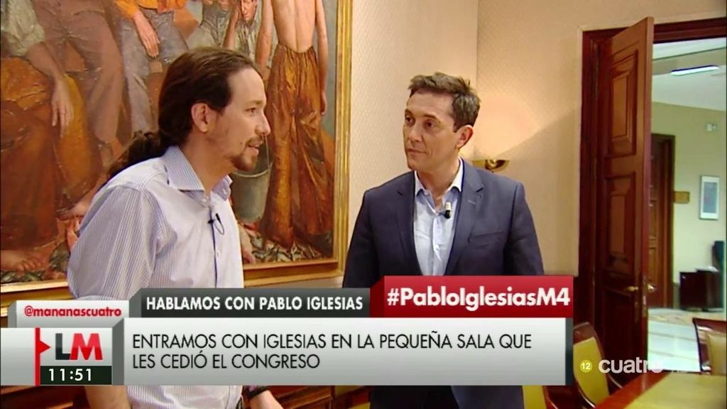 """Pablo Iglesias: """"Somos una fuerza política que va a ser determinante más temprano que tarde en el Gobierno"""""""