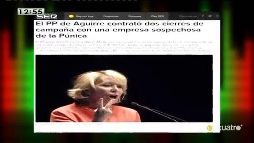 El PP de Madrid podría haber contratado cierres de campaña con una empresa sospechosa de la Púnica, según la Cadena Ser