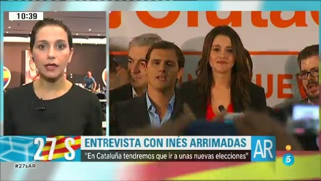 """Inés Arrimadas: """"He pedido nuevas elecciones y la dimisión de Mas"""""""