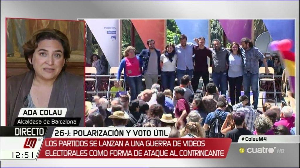 """Ada Colau: """"La ciudadanía está cansada, quiere propuestas que resuelvan problemas"""""""