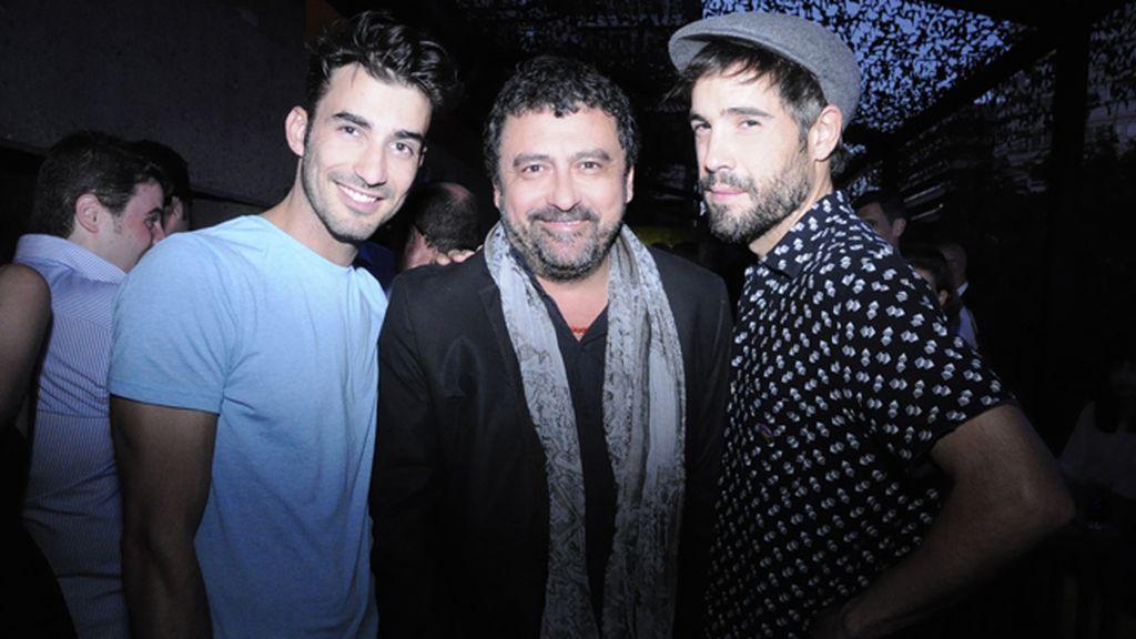 Los actores Israel Rodríguez, Paco Tous y Unax Ugalde