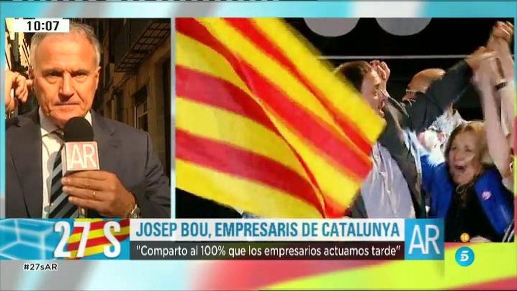 """Josep Bou, Empresaris de Catalunya: """"No hemos estado a la altura de las circunstancias"""""""