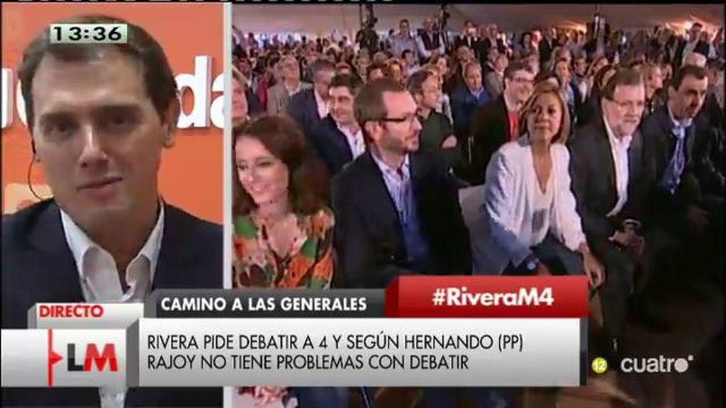 """Rivera: """"Intentaremos que la vieja política se sume a la nueva etapa política de comunicación"""""""