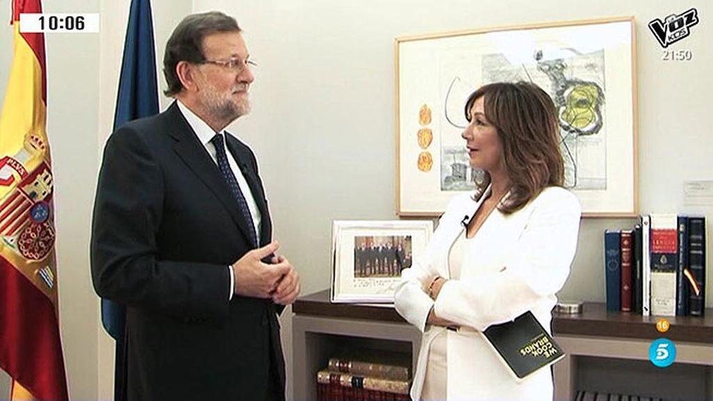 """Rajoy: """"Estoy informado pero hay veces que me atizan tanto que no me regodeo"""""""