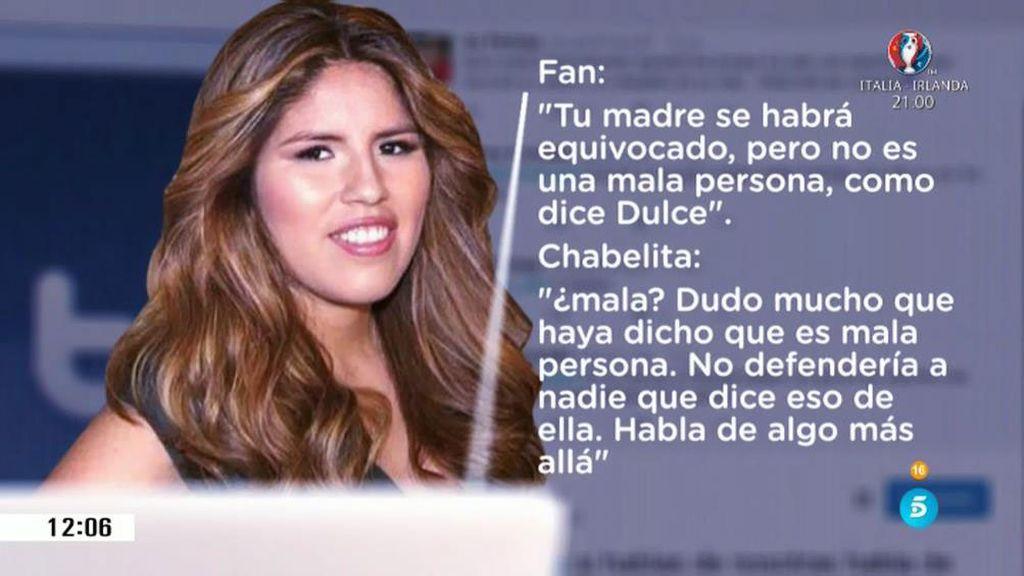 Chabelita se enzarza en Twitter con las fans de su madre por culpa de Dulce
