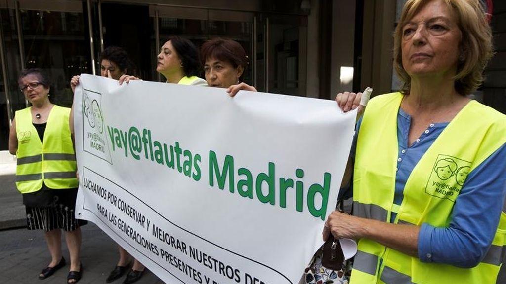 Yayoflautas, protesta, acción, madrid
