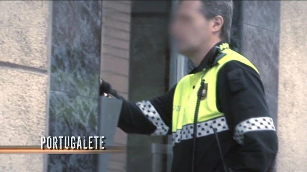 La policía tuvo que intervenir en el conflicto de Portugalete