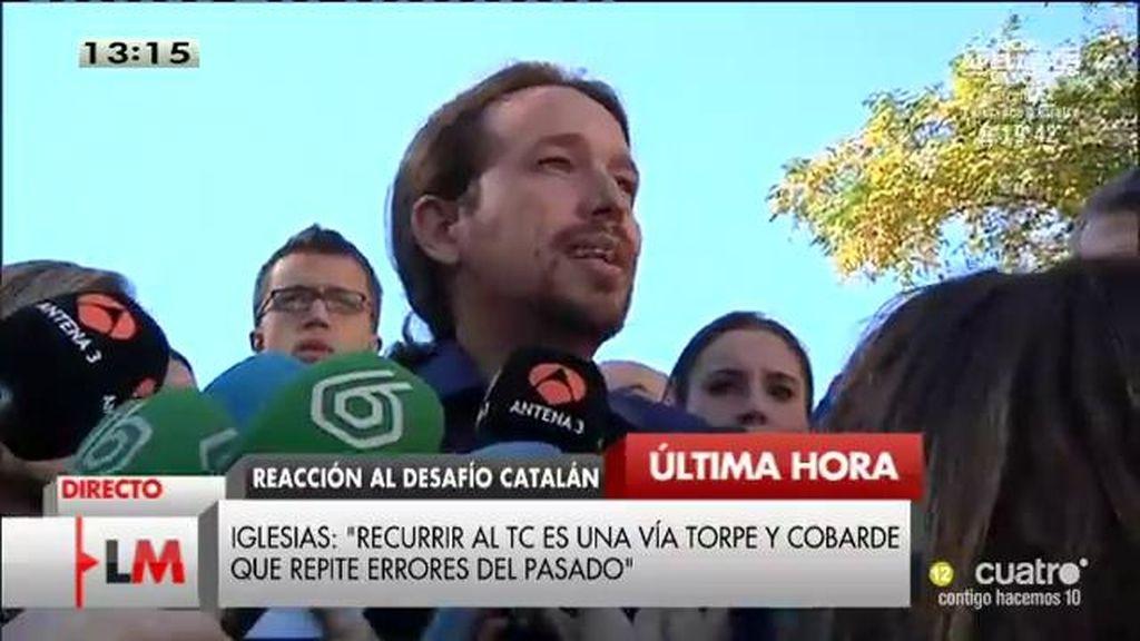 """Iglesias: """"Recurrir al TC es una vía torpe y cobarde que repite errores del pasado"""""""