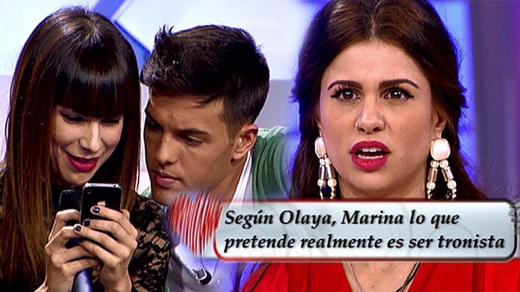 """Olaya, a Marina: """"Lo que quieres es el trono"""""""